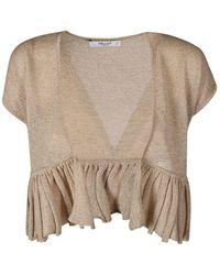 e55b1af6d82e61 Blugirl Blumarine - Beige Viscose T-shirt - Lyst