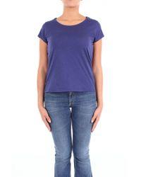 Manila Grace - Blue Cotton T-shirt - Lyst
