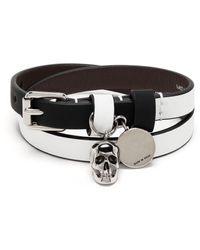 Alexander McQueen Gewickeltes Armband - Weiß