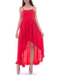 Rinascimento Red Polyester Dress