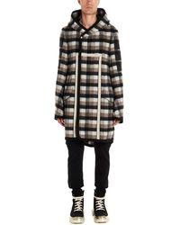 Rick Owens Multicolour Wool Coat - Black