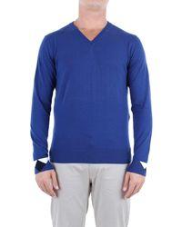 Etro Blue Cotton Sweater