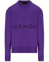 Givenchy Bm90gw4y5d500 andere materialien sweatshirt - Lila