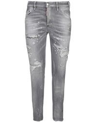 DSquared² ANDERE MATERIALIEN JEANS - Grau