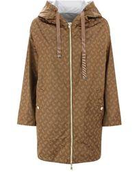 Herno Women's Gc0276d122898160 Brown Polyamide Coat