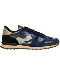 Valentino Garavani Blue Leather Sneakers