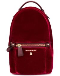 MICHAEL Michael Kors - Red Viscose Backpack - Lyst
