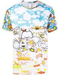 Comme des Garçons T-Shirt mit Print - Blau