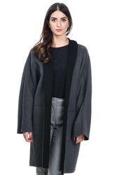 Manila Grace Grey Wool Coat - Gray