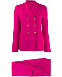 Tagliatore Polyester Suit - Pink