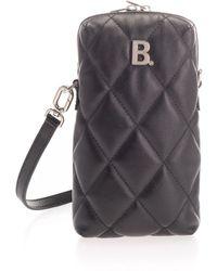 Balenciaga - Black Leather Shoulder Bag - Lyst