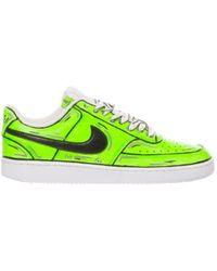 Nike LEDER SNEAKERS - Grün