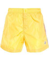 Moncler - Yellow Polyamide Trunks - Lyst