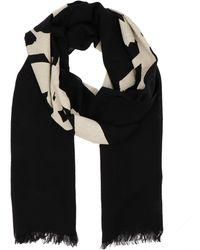 Yohji Yamamoto Black Wool Scarf