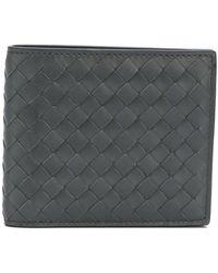 Bottega Veneta Grey Leather Wallet - Gray