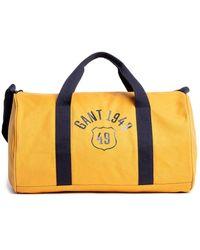 GANT Yellow Cotton Travel Bag