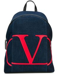 Valentino Cotton Backpack - Blue