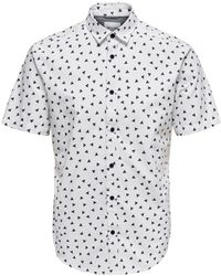 Only & Sons White Cotton Shirt