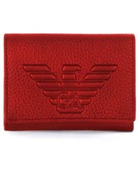 Emporio Armani Red Leather Wallet
