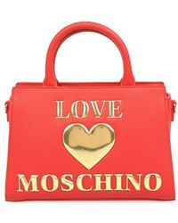 Love Moschino POLYURETHAN HANDTASCHEN - Rot