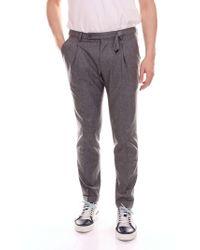 Michael Coal Grey Wool Trousers - Gray