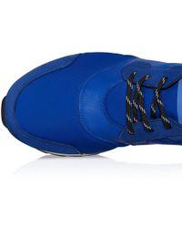Hogan Rebel Blue Leather Sneakers