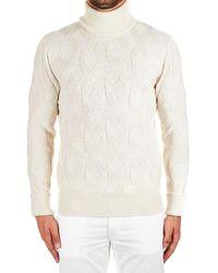 Paolo Pecora White Wool Jumper