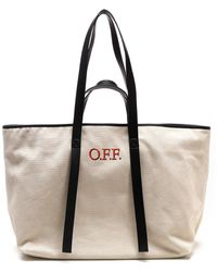 Off-White c/o Virgil Abloh BAUMWOLLE TOTE - Natur
