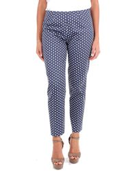 Altea Geometric Print Pants - Blue