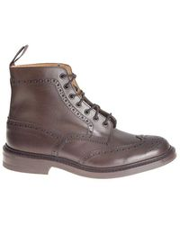 Tricker's - Brown Leather Ankle Boots - Lyst