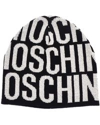 Boutique Moschino Black Wool Hat