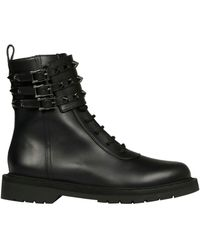 Valentino Leather Boots - Black