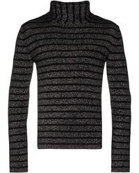 Saint Laurent Silver Wool Jumper - Metallic