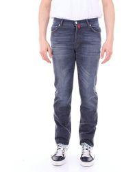 Kiton J02p76 Cotton Jeans - Blue