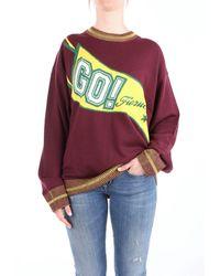 Fiorucci Burgundy Wool Sweater - Multicolour