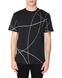 Les Hommes T-Shirt mit Print - Schwarz