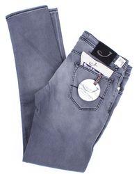 Jacob Cohen Jeans modell 622 in mittelgrauer farbe - Blau