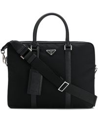 Prada Black Synthetic Fibres Briefcase