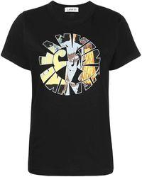 Lanvin Jeanne Hippie T-Shirt - Schwarz