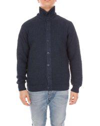 Cruciani Blue Wool Cardigan