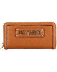 89912fb1164 Love Moschino - Brown Faux Leather Wallet - Lyst