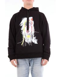 Neil Barrett Neil Barret Black Hooded Sweatshirt