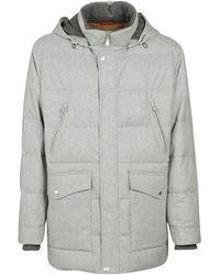 Brunello Cucinelli Gray Wool Coat