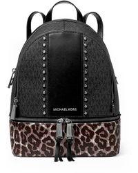 Michael Kors Rhea Medium Pony Black Backpack