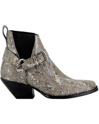 Mexicana Multicolor Leather Ankle Boots - Black