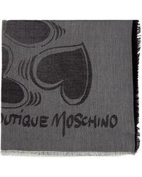 Moschino ANDERE MATERIALIEN SCHAL - Grau