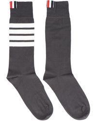 Thom Browne Socks - Grey