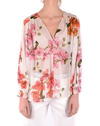 Pinko Multicolour Viscose Shirt - Pink