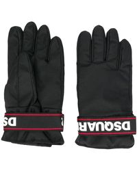 DSquared² Black Synthetic Fibers Gloves