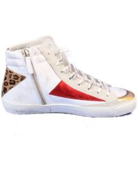 Philippe Model Leather Hi Top Trainers - Natural